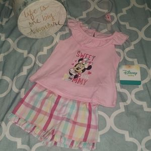 "Disney Baby Minnie Mouse ""Mommy"" Summer Outfit"